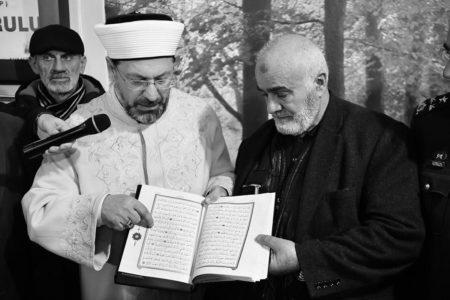 Diyanet İşleri Başkanı Afrin Şehidi İçin Kur'an Okudu